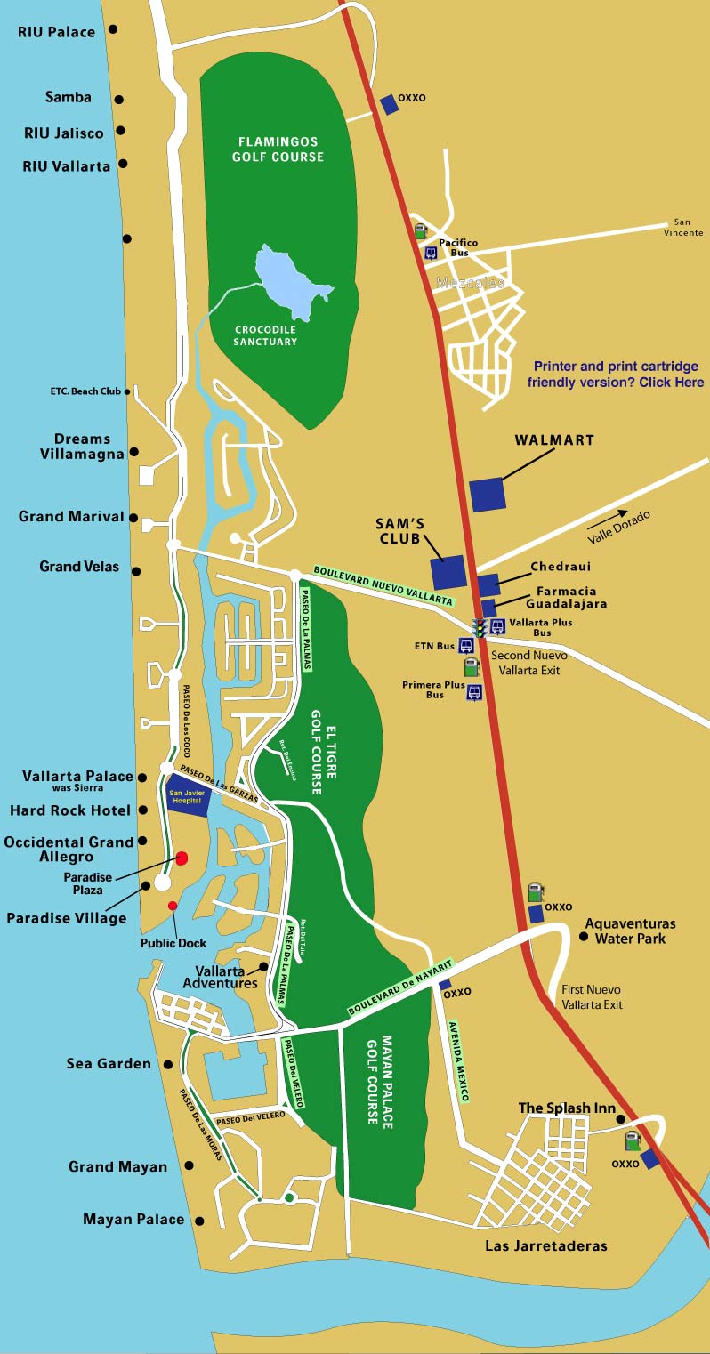 Puerto Vallarta World Map.Nuevo Vallarta Map Vallarta Info
