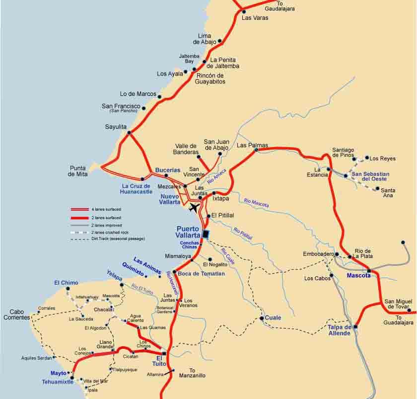 Puerto Vallarta Bay Map Vallarta Info